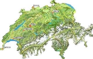 Szwajcaria Mapa